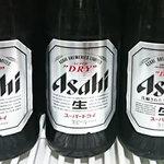 府中 武蔵野うどん - ドリンク写真:アサヒビール中瓶