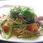 NICE - 本日のパスタ(沖縄産豚ロースと野菜のペペロンチーノ)
