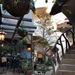 キャットカフェ てまりのおしろ - 中庭