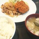 キッチン ニューほしの - ランチセット  ごはん  お味噌汁