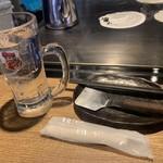 お好み焼 みっちゃん総本店 - お水と取り皿