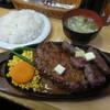 ミスターデンジャー - 料理写真:ハンバーグ&ステーキセット