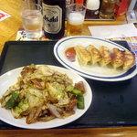 中華東秀 - ビール・回鍋肉・餃子