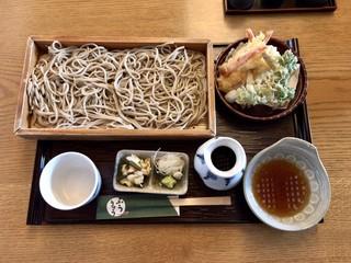 そば処 ふうりゅう - 天ぷら板そば ¥1350