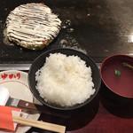 101131390 - お好み焼きランチ(800円)Aセットのご飯と汁物