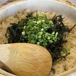 湘南浜焼きセンター 海女小屋 - 土鍋ご飯。これはめっちゃ旨い!