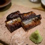 まるしげ 夢葉家 - 秋刀魚の肝醤油焼き