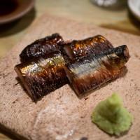 まるしげ 夢葉家-秋刀魚の肝醤油焼き