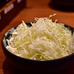 とんかつ 神楽坂 さくら - 【ロース定食 林 SPF(180g)@2,180円】キャベツ