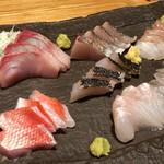 銀座 魚ばか - お通しが刺身