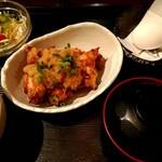 とり鉄 - 鶏の唐揚げ おろしポン酢定食