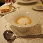 ル・シュバリエ - ●スープ:スクランブル・ウニ・伊勢海老