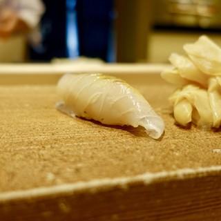 北の華 はやし - 料理写真:[2018/12]寿司① 函館産やりいかの握り