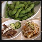 中華食堂一番館 - 砂肝の冷製・枝豆・中華風冷奴