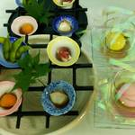 創作日本料理 とものえ亭 - 7月 ランチ懐石 前菜 朝顔盛り