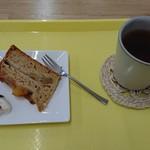 のっぽくん - ケーキとドリンクはオーガニック紅茶。
