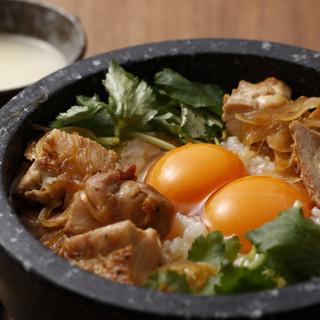 【ランチ】大好評<石焼親子丼>は、侘家ならではの逸品◆