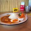 ヤンガオ - 料理写真:エビとタケノコのクアカレー。ゆで卵トッピング