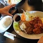 スピカ - 和風ハンバーグランチ(鶏唐揚げ)