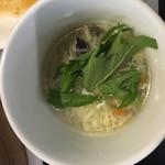 上海小籠包厨房 阿杏 - スープ
