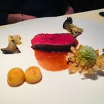 シェ松尾・松濤レストラン - 蝦夷鹿の干し草焼き