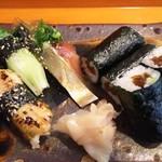 玄海鮨 - 追加  アナゴ  サバ  カイワレ  カンピョウ巻き(サビ入り)