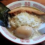 101183994 - 【(限定) 三段仕込み + 半熟味付け煮玉子】¥750 + ¥100