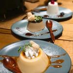 海千山千番長 - 自家製プリン、自家製ほうじ茶プリン、杏仁豆腐