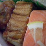 八瀬大岩 - サーモン・アナゴ・鱧の押し寿司