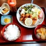 三陸 - 料理写真:海鮮居酒屋 三陸本店@古川 カキフライ定食(920円)