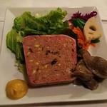 ル・マルカッサン - お肉のテリーヌ、砂肝のコンフィ添え