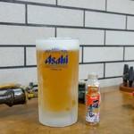 すき焼・鍋物 なべや - ☆生ビール(大)700円