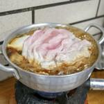 すき焼・鍋物 なべや - ☆豚肉すき焼き 730円