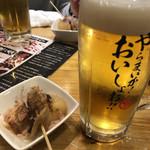 濱松たんと - 生ビールとつきだしの黒はんぺんと大根
