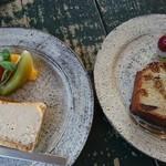 ロギ - ベイクドチーズケーキとイチジクのフィナンシェ
