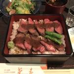 菊春 - 尾張牛ステーキ重