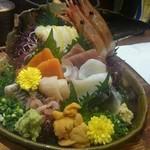 魚料理専門 魚魚一 - 「刺身の船盛り」