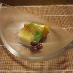 千松しま - 南京豆腐、生麩のゼリー寄せ、大納言小豆。