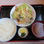 食堂 いちばん - 野菜炒めライス 800円
