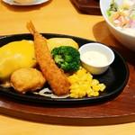 101203020 - お子様チーズハンバーグコンボ 790円(税別)
