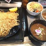 四代目けいすけ - 22日の伊勢海老と渡り蟹のつけ麺とタンメンのあたま