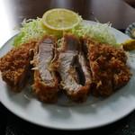 ほづみとんかつ店 - 料理写真:ロースカツ定食(大)