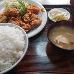 美よし - 料理写真:唐揚げ定食ご飯大盛り