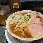 101215216 - サバ醤油そばとビール