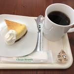 茶るら - チーズケーキとホットコーヒーのセットで500円