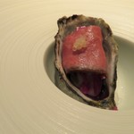 hiroto - 塩田熟成牡蠣と和牛スモーク フィンガーライムの香り