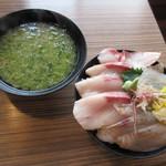 ばんごや - 旬の地魚丼(2019/01/25撮影)