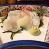 花せん - 料理写真:昆布締め盛り合わせ(ハーフ)  平目×2・黒鯛・カワハギ