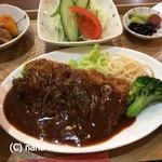 日の出食堂 - 料理写真:牛カツ(日替り)