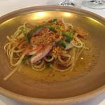 イタリア料理マメトラ - カラスミのバベッティーニ